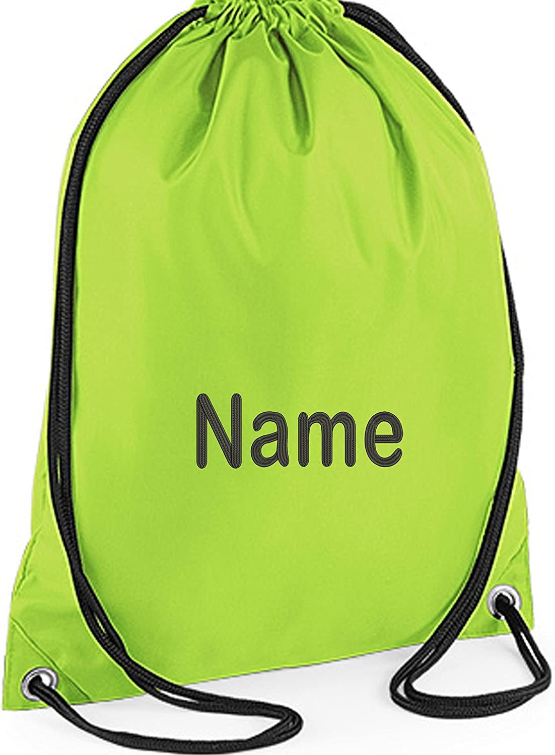 Bottle Green Personalised Embroidered Name School Book Document Satchel Bag