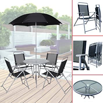 Bistrotisch Mit 4 Stühlen.020 Gartenmöbel Mit 4 Stühlen Bistrotisch Sonnenschirm Sitzgruppe Textilen
