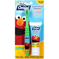 Orajel Elmo Fluoride-Free Tooth & Gum Cleanser 1.0 oz. with Toothbrush, Banana Apple...