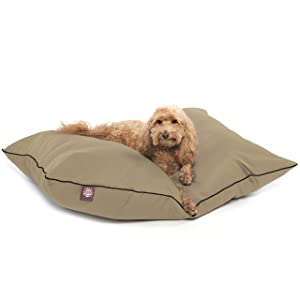 Black Super Value Pet Dog Bed by Majestic Pet