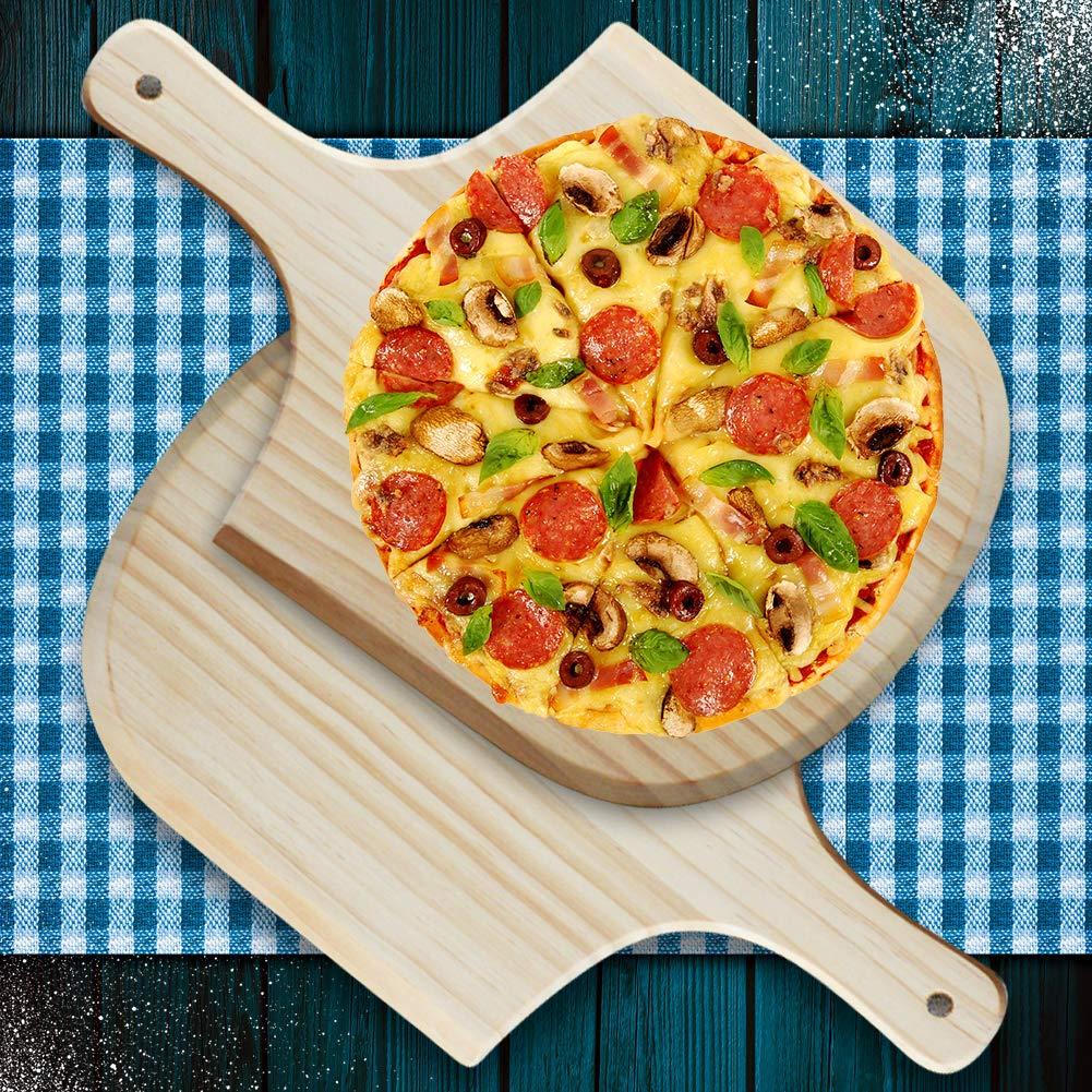 tianxiangjiaju 8//10//12//14inch Wooden Pizza Peel Homemade Cheese Board Kitchen Tool 10 inches