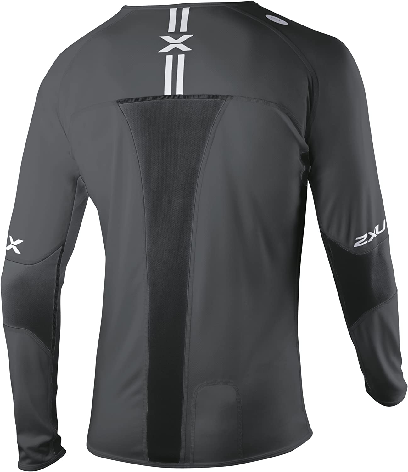 2XU Men's Compression Long Sleeve Running Top Black / Black