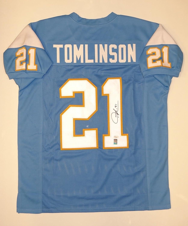 best website c988e 614b9 Ladainian Tomlinson Autographed Light Blue Pro Style Jersey ...