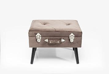 Kare hocker suitcase grey amazon küche haushalt