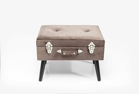 Sgabello suitcase grigio amazon casa e cucina