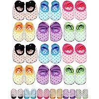Baby Toddler Girls Grip Socks 0-12, 1-3, 3-5 & 4-7 Year Old Anti Slip w/ Strap Socks Boy and Girl 0-7 Yr Old Gift