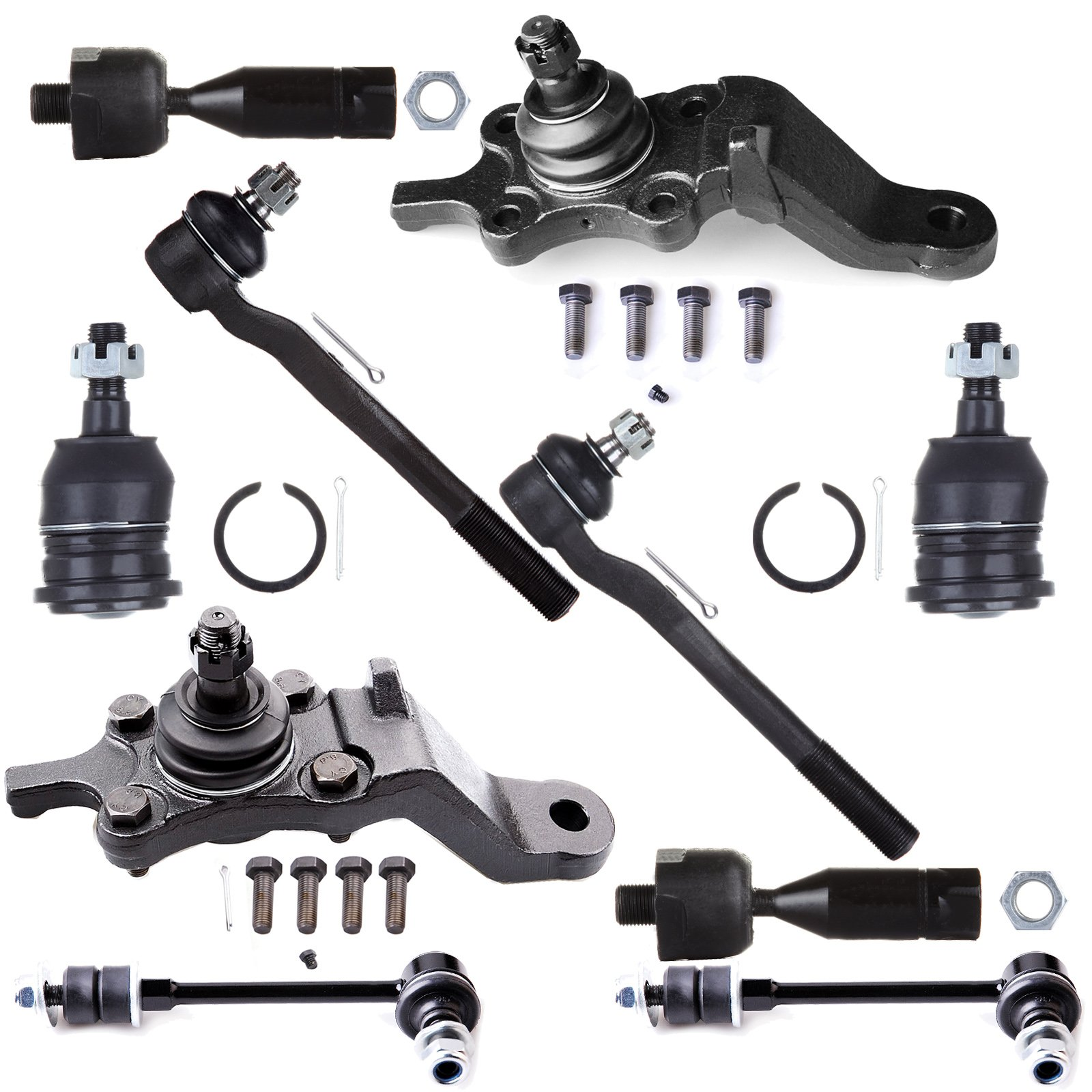 ECCPP Front Ball Joint Tie Rod End Sway Bar Link Complete Kit for 1996-2002 Toyota 4Runner (10Pcs)