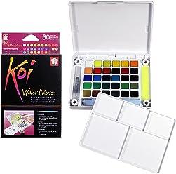 Sakura XNCW-30N Koi Field 30 Assorted Watercolors with Brush Sketch Set