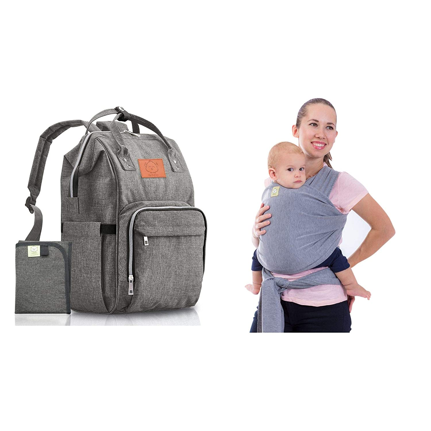 KeaBabies-Diaper-Bag-&-Baby-Wrap-Carrier-Bundle/