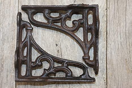 Amazoncom Antique Style Small Cast Iron Shelf Brackets