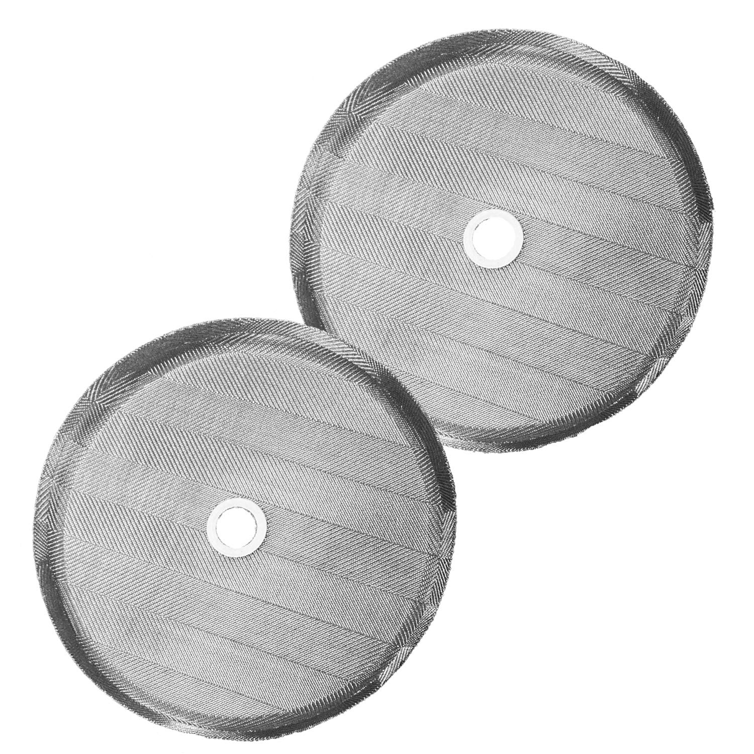French Press Replacement Filter Screen (2pack) - Includes Metal Center Ring - Universal 8-Cup Stainless Steel Reusable Filter by Gold Lion Gear