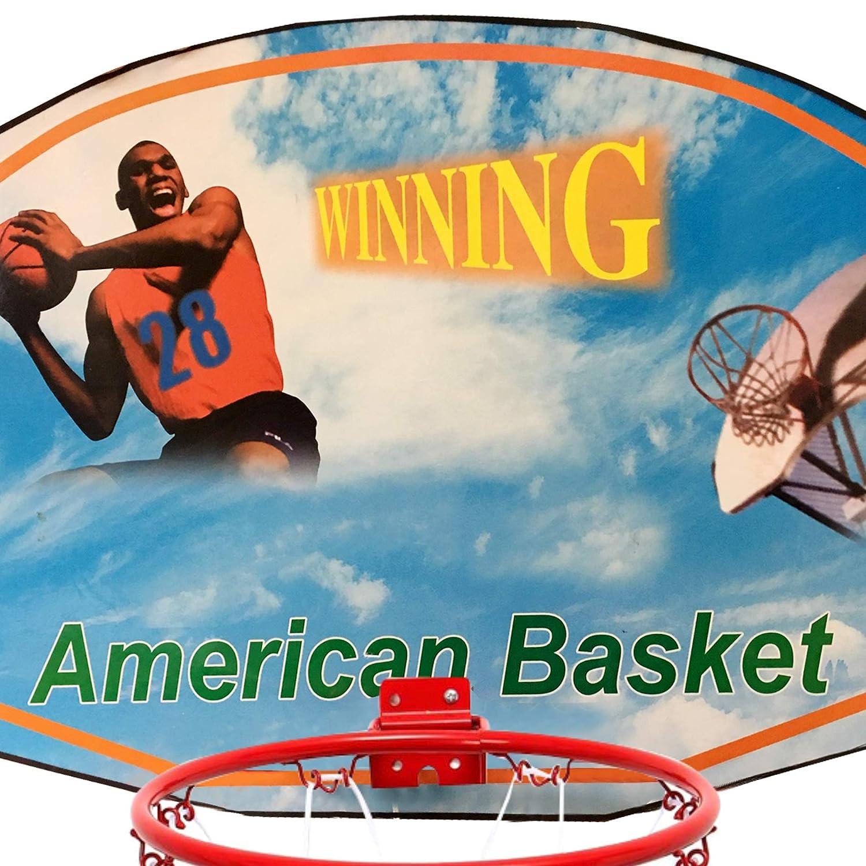 ONEX Basketball Net Hoop Wall Mounted Backboard Heavy Duty Basket Ball Ring Indoor outdoor Wall Mounting basketball hoop net Weather Resistant 45cm
