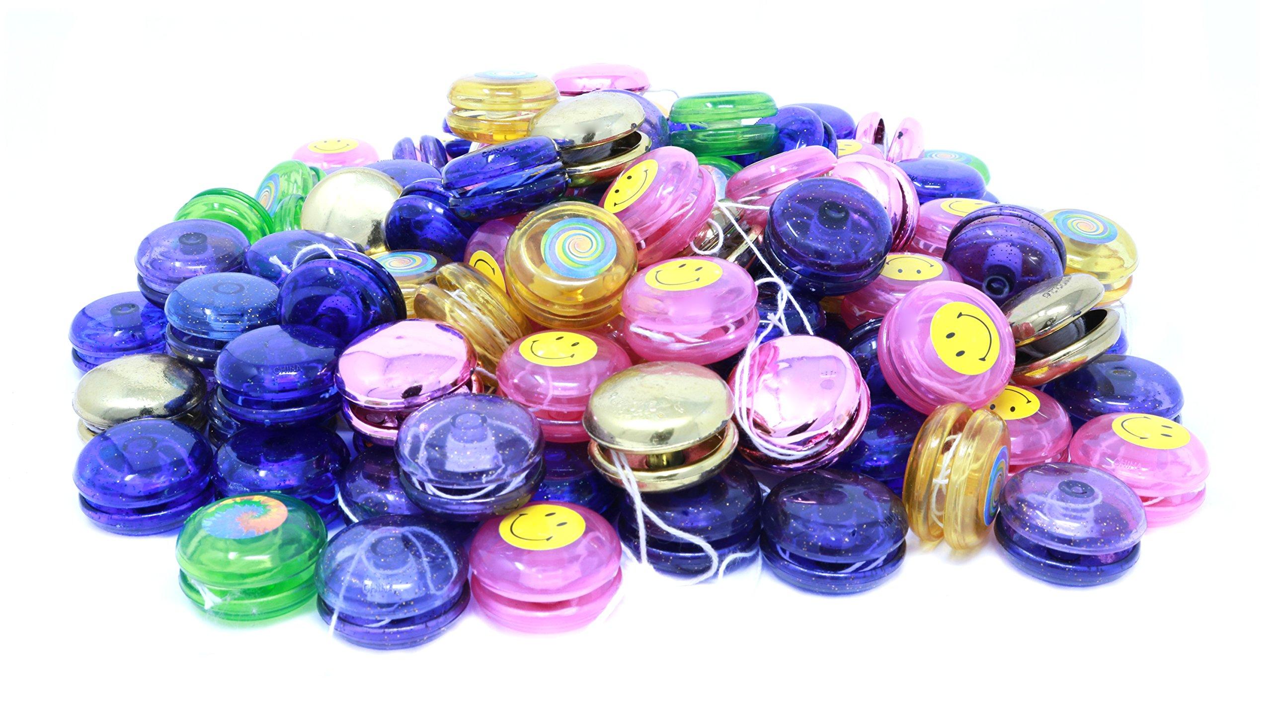 Mini Yoyo Assortment - Bulk Pack Of 144 Yo Yos In Bright Colors And Styles