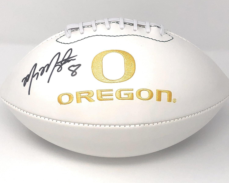 Marcus Mariota Oregon Ducks Signed Autograph Embroidered Logo Football Mariota GTSM Player Hologram
