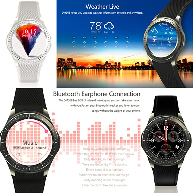 luckynv DM368 reloj inteligente anti-lost Finder 3,3 pulgadas ...