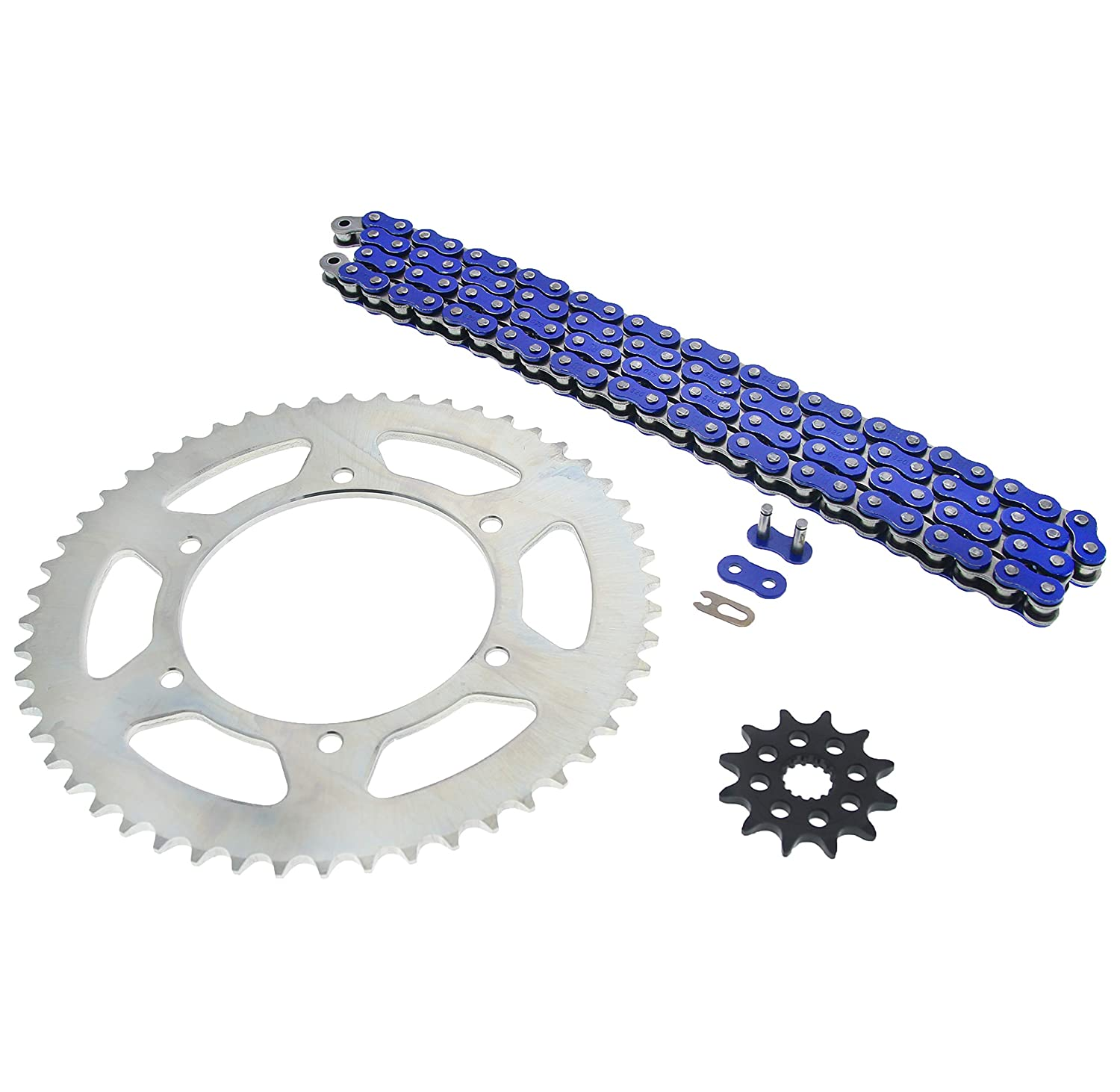 1999-2004 Yamaha YZ125 125 Blue Non O Ring Chain /& Sprocket Silver 12//52 116L