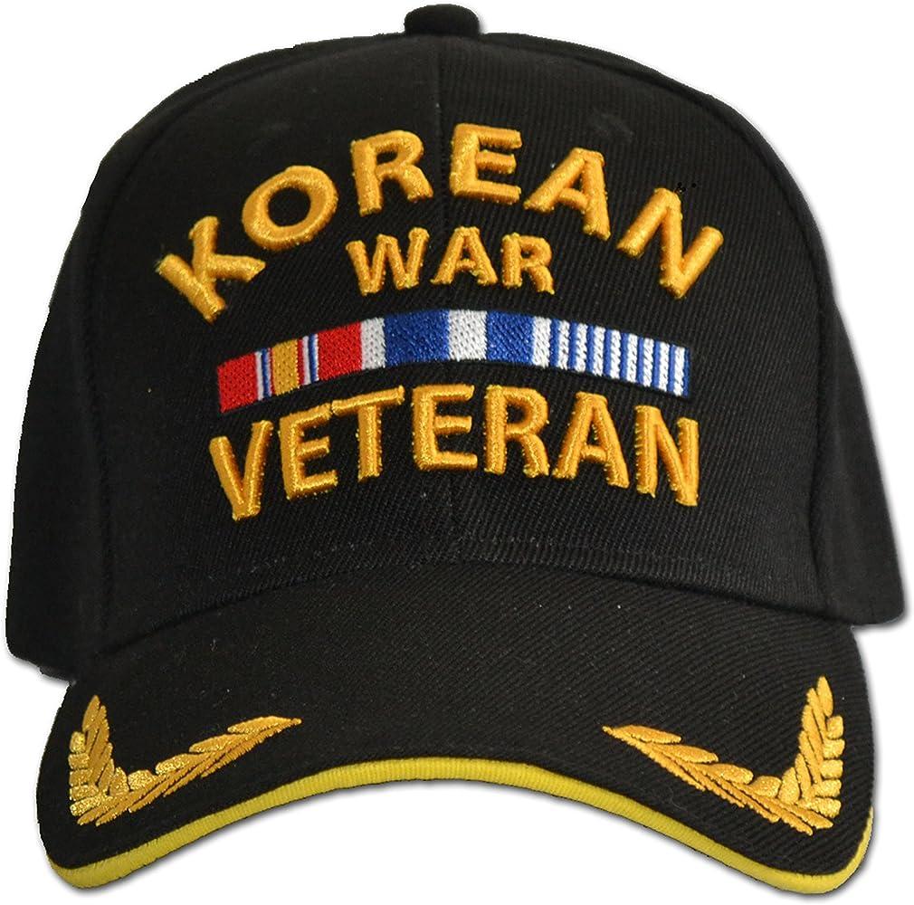 Korea War Veteran Baseball Style Embroidered Hat Black Ball Cap Korean Vet