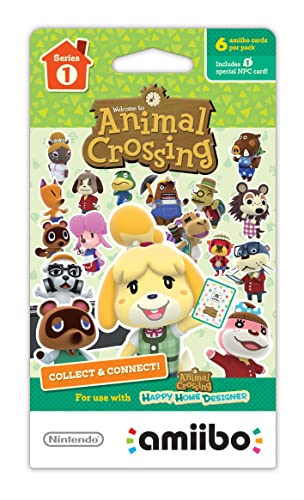 Animal Crossing Amiibo Cards 6 Pack Series 1 Amazonin Video Games