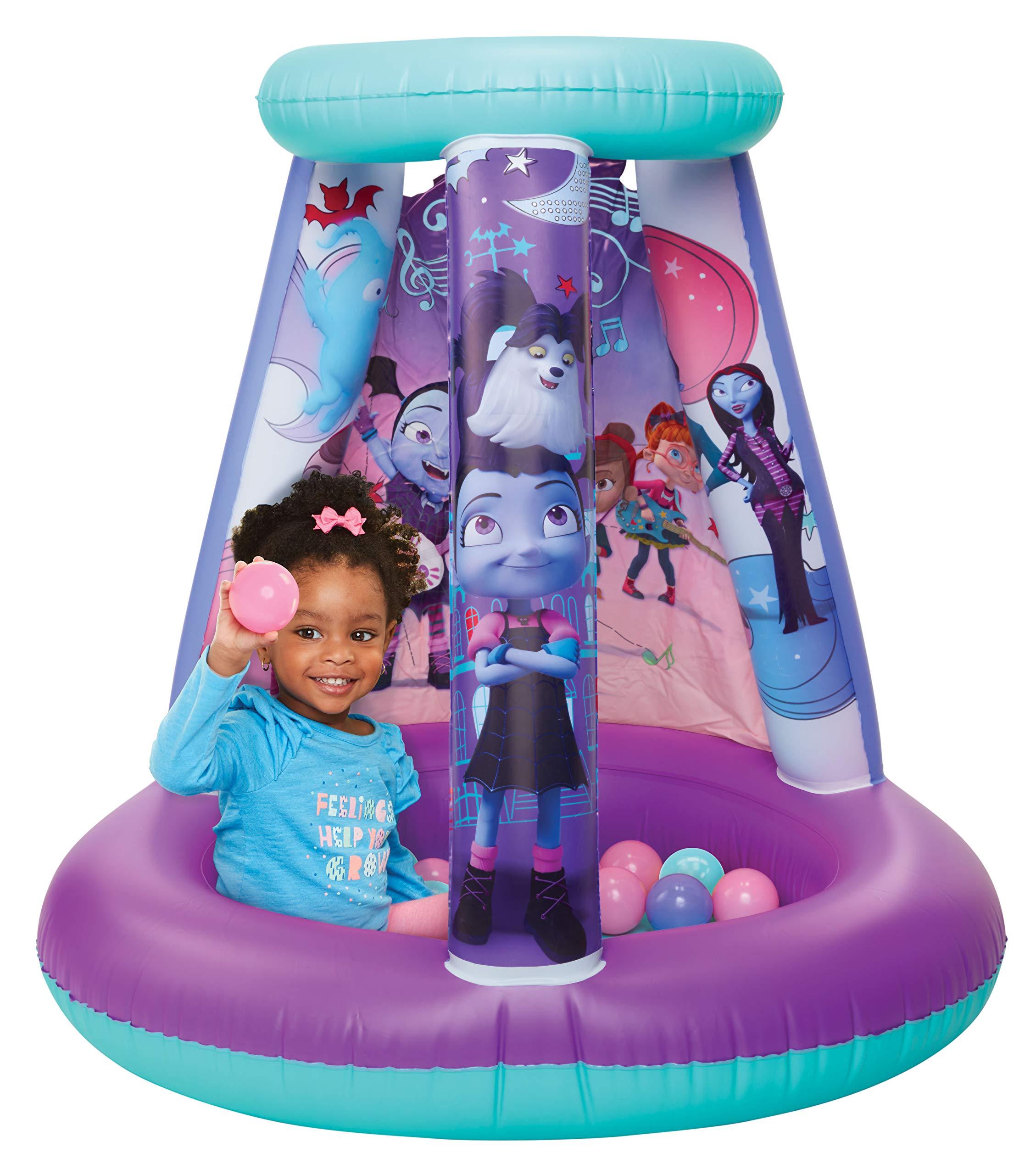 Vampirina Ball Pit, 1 Inflatable & 15 Sof-Flex Balls, Purple/Blue, 28''W x 28''D x 33''H