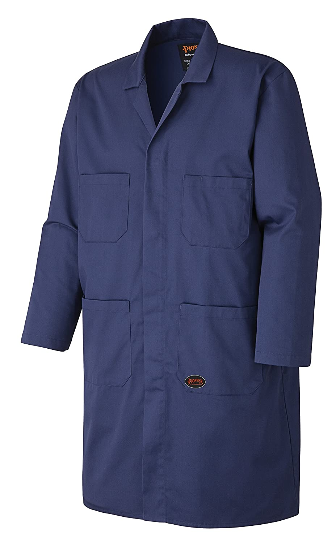 Pioneer V2020180-4XL Multi-Pocket Shop /& Garage Work Coat Navy Blue-4XL