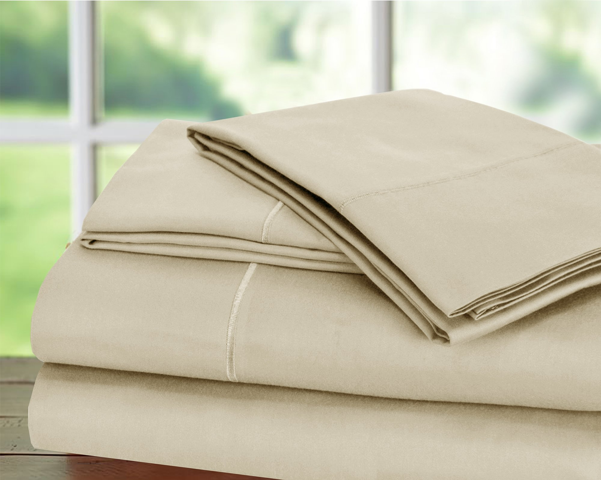 Hotel Collection! Luxury Sheets on Amazon Top Seller in Bedding! - Blockbuster Sale: Todays Special - Luxury 1000 Thread count 100% Egyptian Cotton Sheet Set, King - Ivory