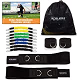 XCELER8 Athletics DYNAMX Trainer Speed and Agility Training Resistance Bands for All Sports | Includes Ankle Straps | Training Videos | Fast Sprinting, Explosive, Agile, Strength, Endurance