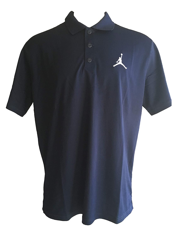 f3b68cb3094 NIKE Men's Jordan Dri-Fit Team Polo Golf Style Short Sleeve Polo Shirts  (X-Large, Navy/White) at Amazon Men's Clothing store: