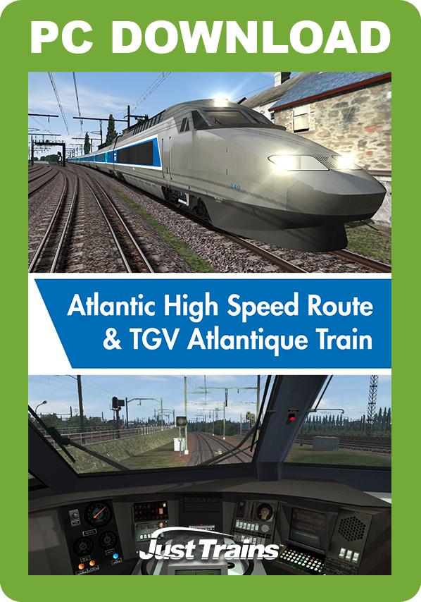Atlantic High Speed Route & TGV Atlantique Train [Download]