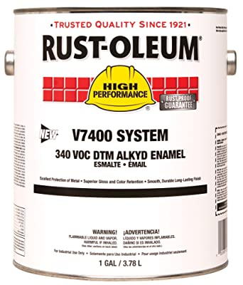 RustOleum 245381 Clear V7400 High Performance System Alkyd Enamel Paint, 1  gal Can (Pack of 2)