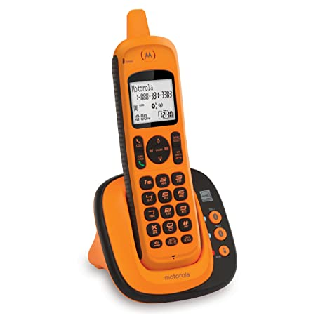 Motorola XT801 DECT 6.0 Rugged Waterproof Cordless Phone With Bluetooth  Connect To Cell, Amber,