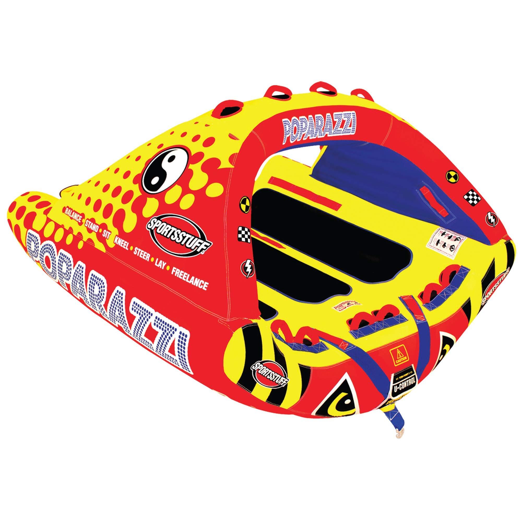 Sportsstuff Poparazzi | 1-3 Rider Towable Tube for Boating by SportsStuff