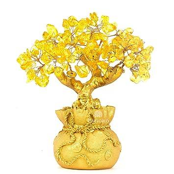 Feng Shui Dekoration amazon de bwinka home tisch büro feng shui dekoration kristall geld