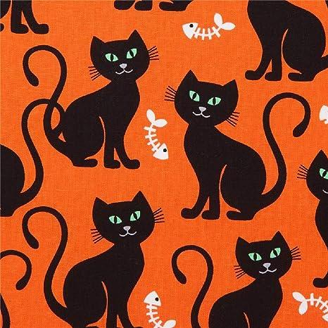 Michael Miller Tela de Gatos de Halloween