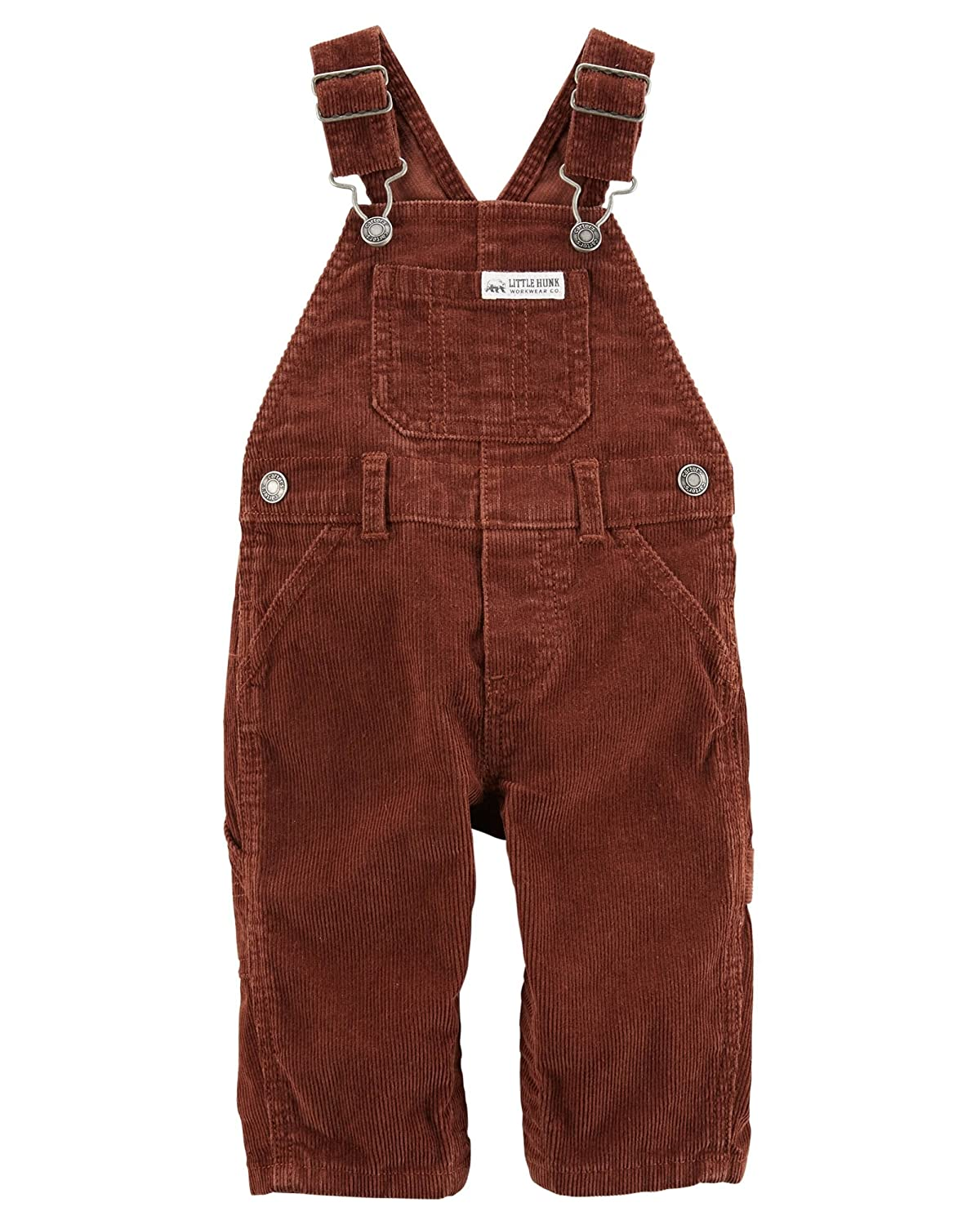 Carter's Baby Boys' Rust Corduroy Overalls - Little Hunk- 3 Months Carter's