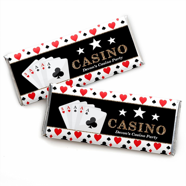 Amazon.com: Personalized Las Vegas – Juego de 24 envoltorios ...