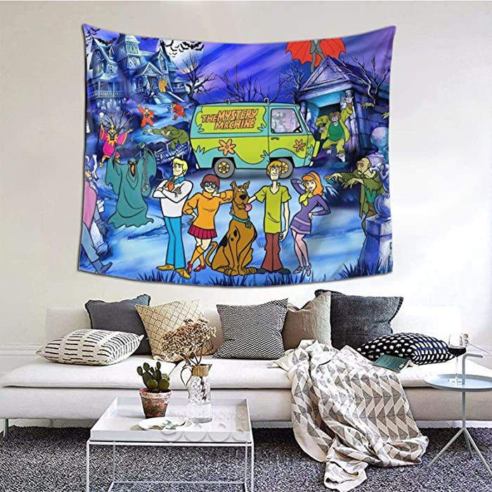 Tapestry Wall Hanging Cartoon Tapestry Wall Art Decoration for Bedroom Living Room Dorm 60 x 51 Inch