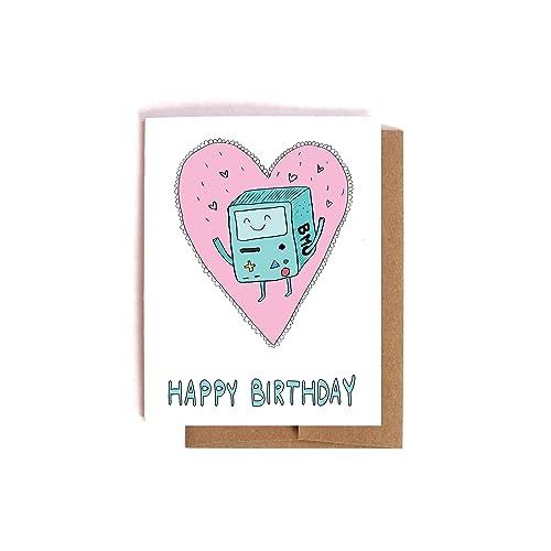 Amazon Bmo The Robot Adventure Time Birthday Card Handmade