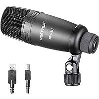 Neewer Micrófono de Condensador Vocal con Soporte de Micrófono Montaje Giratorio y Cable USB para Difusión de Estudio…