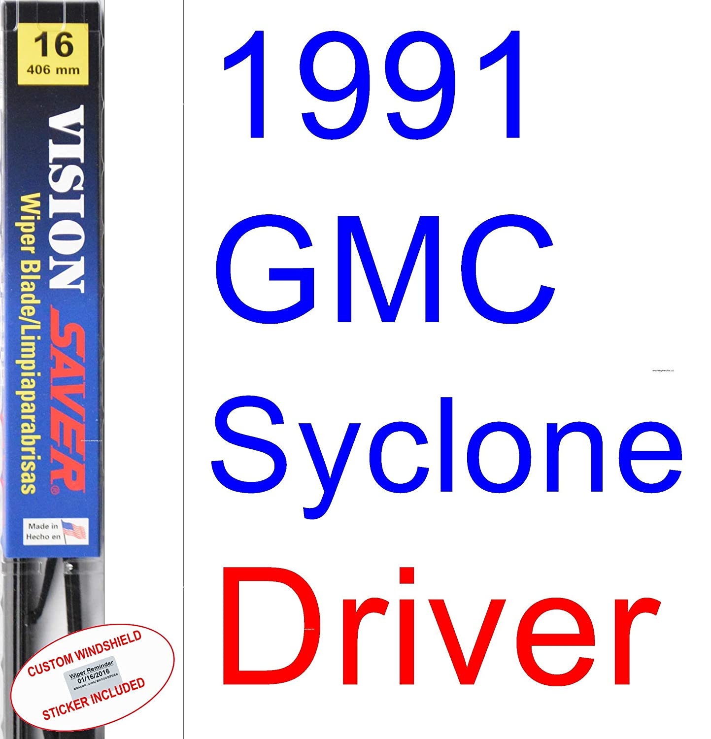 Amazon.com: 1991 GMC Syclone Wiper Blade (Driver) (Saver Automotive Products-Vision Saver): Automotive