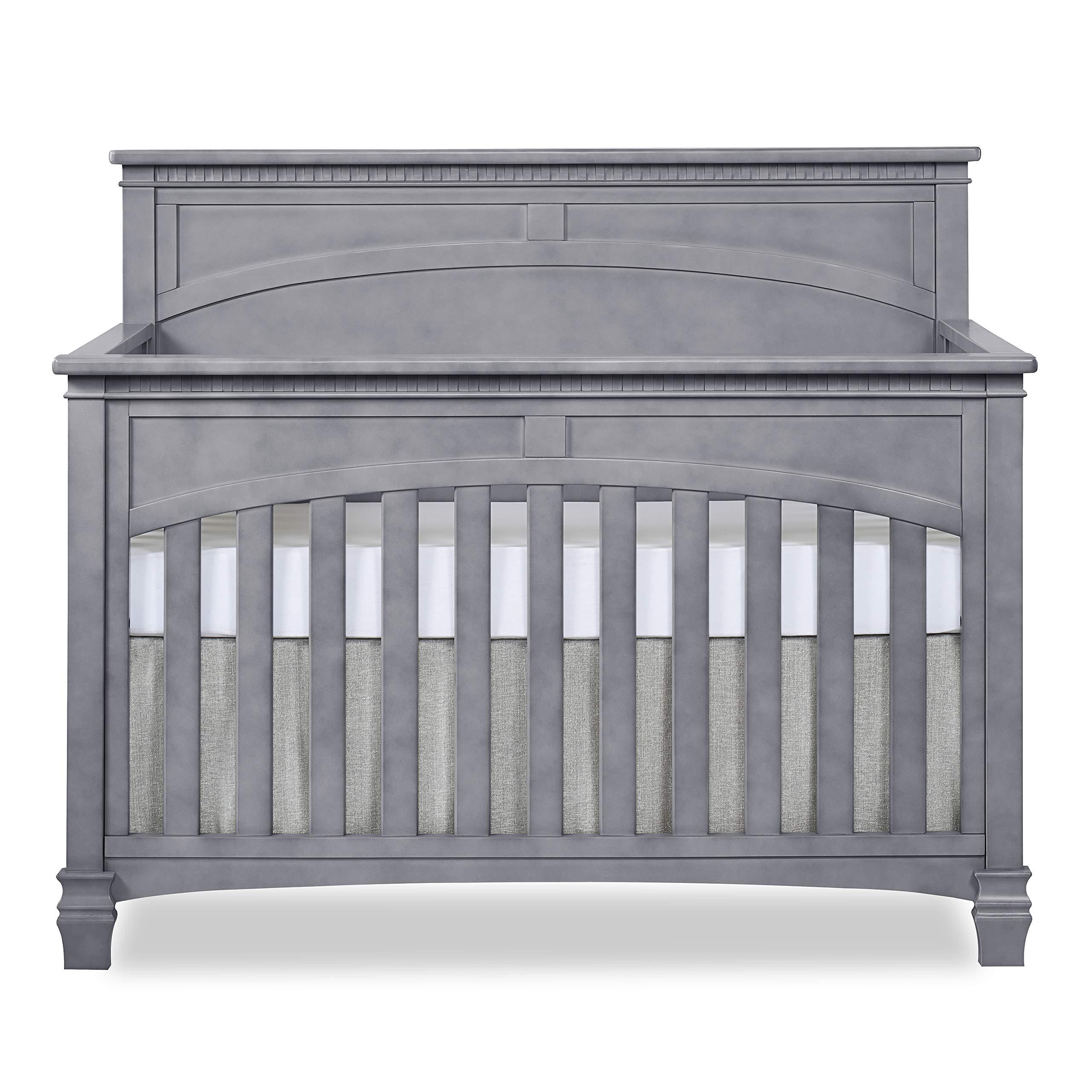 Evolur Santa Fe 5-in-1 Convertible Crib, Storm Grey by Evolur