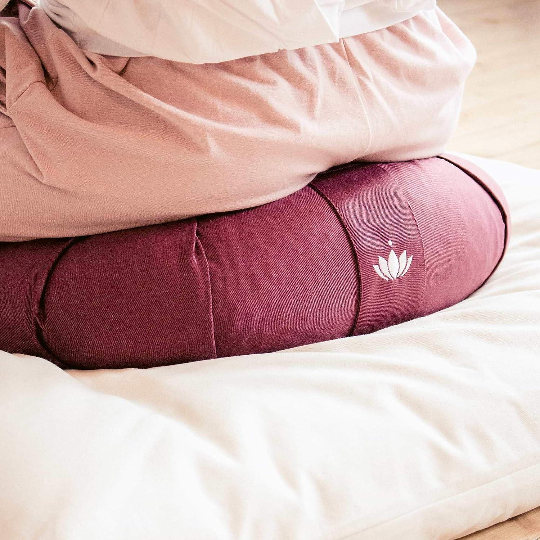 Meditation Cushion Ripieno di Kapok Rivestimento in Cotone Lavabile Lotuscrafts Cuscino Meditazione Zafu Kapok Delight Cuscino Zafu Altezza 15 cm Cuscino Yoga Meditazione