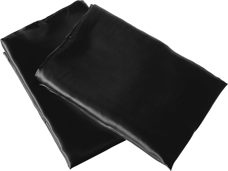 Morning Glamour 2 Pack Signature Box Pillowcases Black Home Kitchen