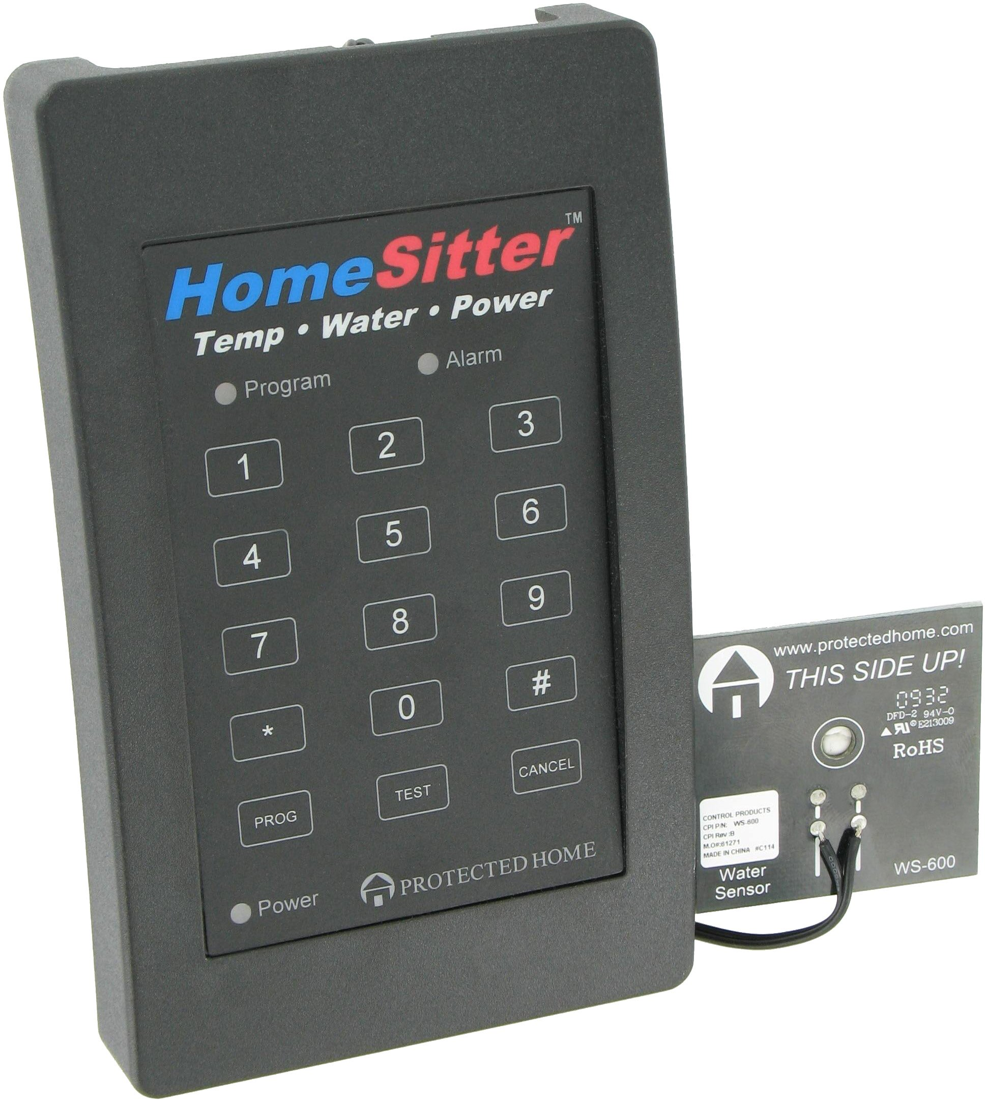 Control Products FreezeAlarm Homesitter Temperature, Water, Power Alarm HS-700 with voice message to up to 3 phone numbers / No monitoring fees by Control Products