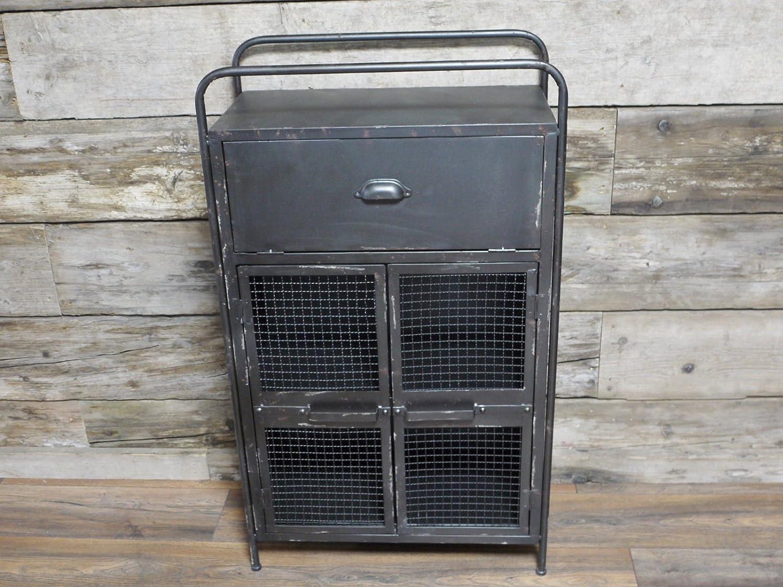 Industrial Locker Room Chest Of Drawers Bedside Storage Display Cabinet 104cm Giftwarez