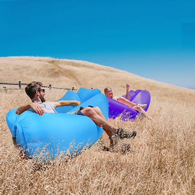 Voyage Chaise Longue hamac Gonflable avec Sac de Transport et pour int/érieur ou ext/érieur canap/é Gonflable imperm/éable /à leau mer Orsen Sofa Gonflable Camping Jardin ou Plage f/ête