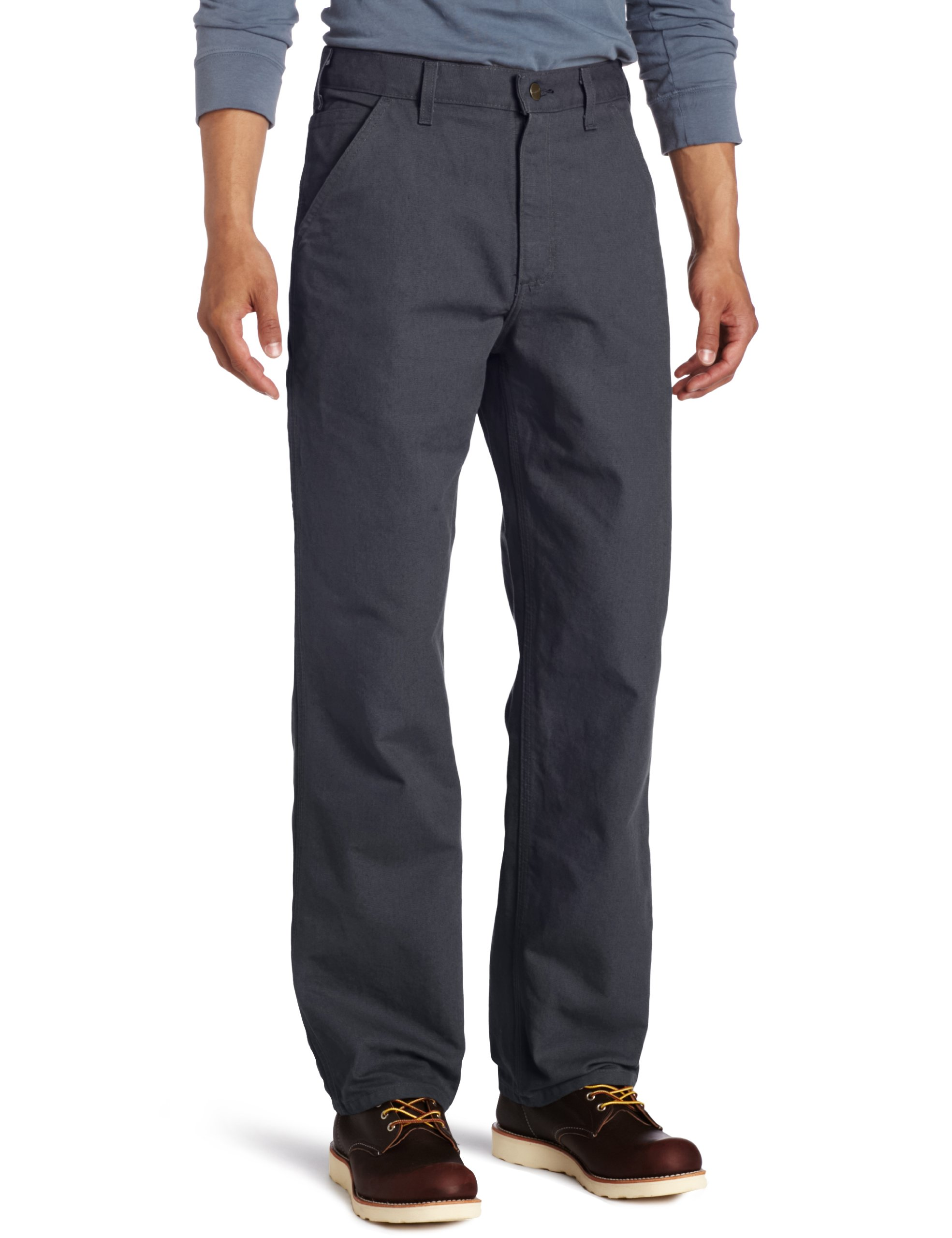 Carhartt Men's Washed Duck Work Dungaree Pant,Petrol Blue,33W x 36L