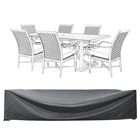 "Patio Furniture Set Covers Waterproof Outdoor Table and Chair Covers  Durable Heavy Duty 110"" L - Amazon.com : Patio Furniture Set Covers Waterproof Outdoor Table And"