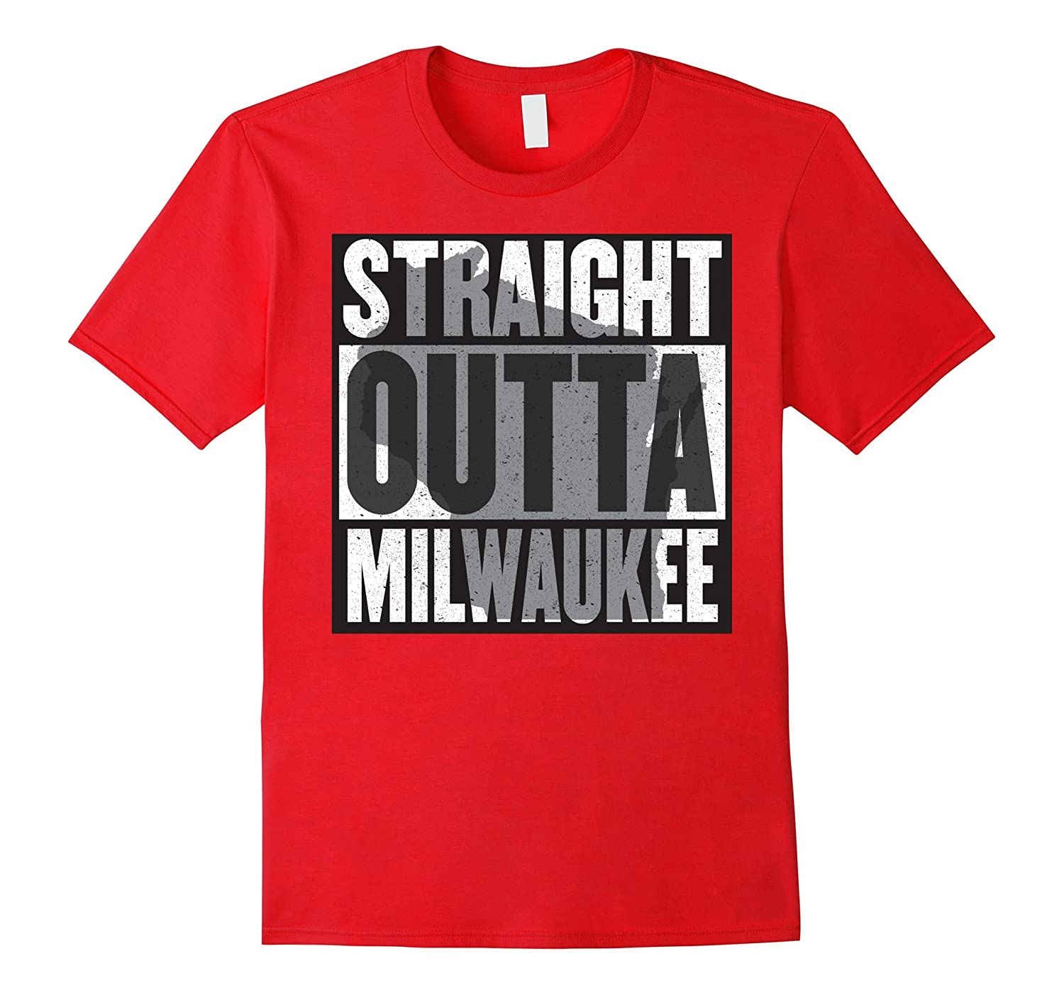 Straight outta Milwaukee - most awesome Wisco t-shirt-Vaci