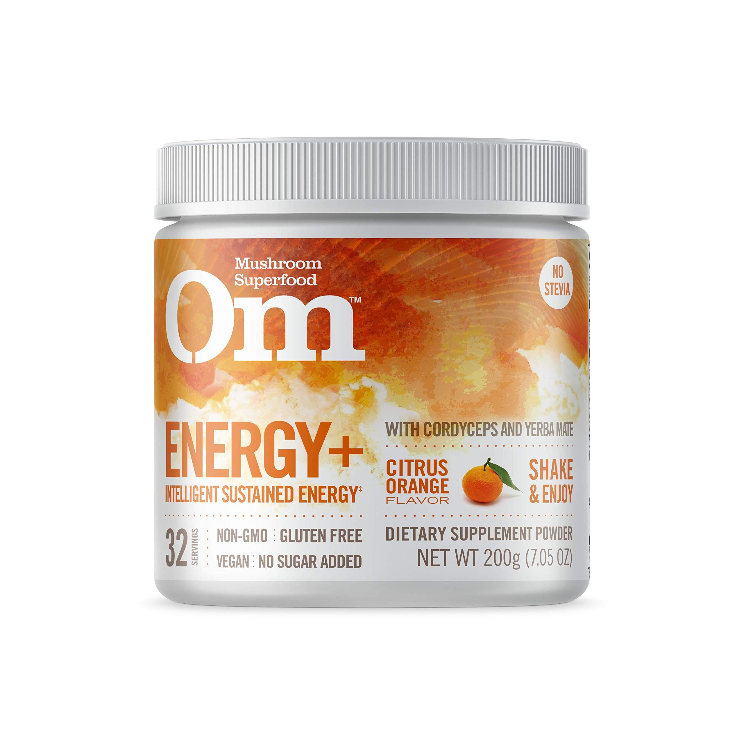 Om Organic Mushroom Nutrition Supplement, Energy with Cordyceps & Reishi, Citrus Orange, 32 servings, 7.05oz, 200 grams