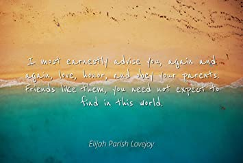 Amazoncom Elijah Parish Lovejoy Famous Quotes Laminated Poster